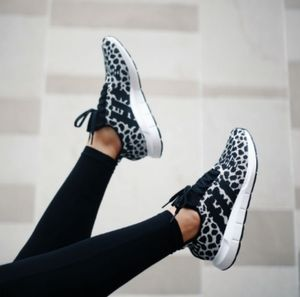 ADIDAS SWIFT RUN BLACK AND WHITE SHOES FOR WOMEN